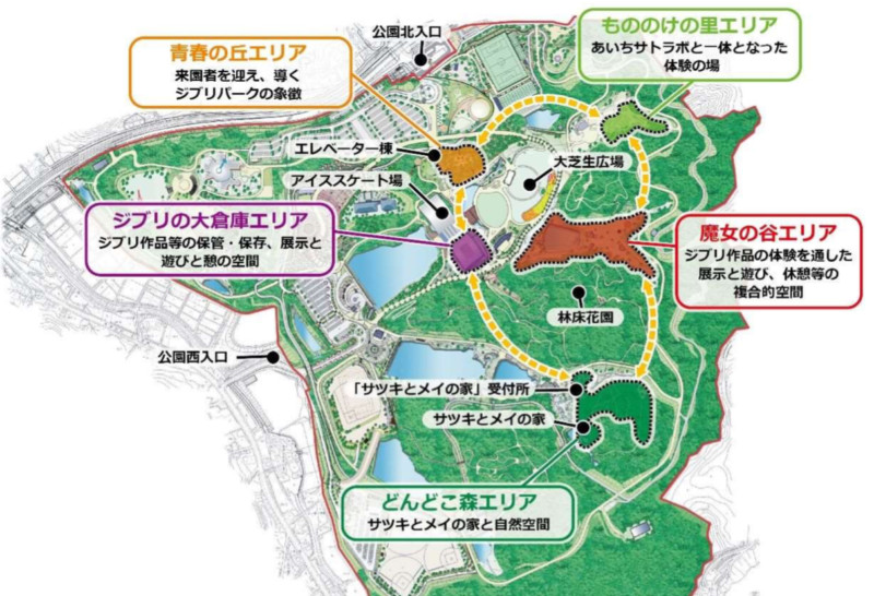 a map of the proposed ghibli park