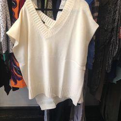 Paul & Alice sweater poncho, $60