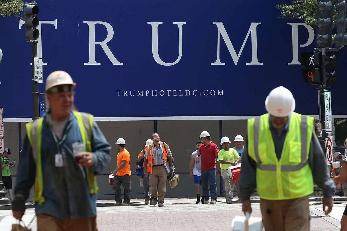 The Trump Hotel under construction in D.C.