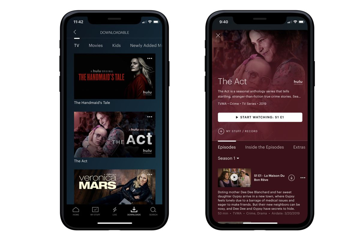 Hulu finally launches offline downloads, but only for customers on its No  Ads plan - The Verge