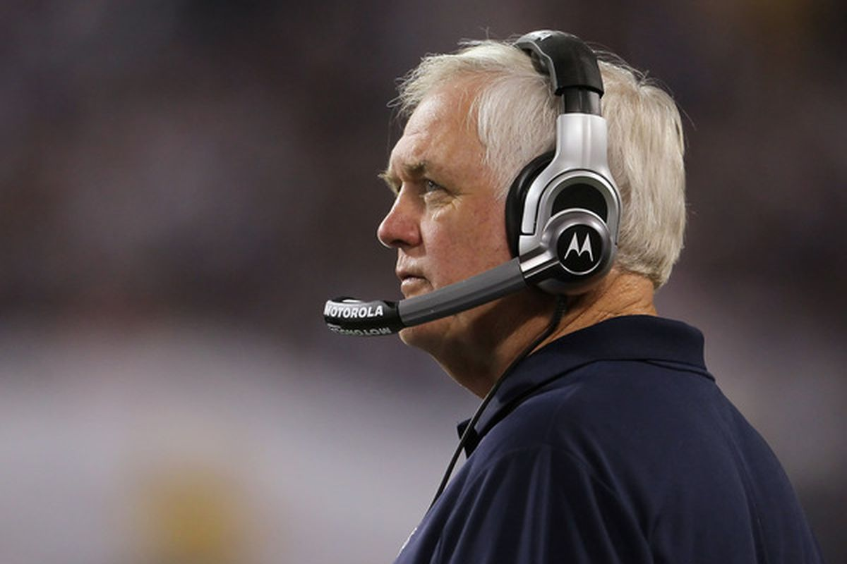 Dallas Cowboys head coach<strong> Wade Phillips</strong>. (Photo by Jeff Gross/Getty Images)