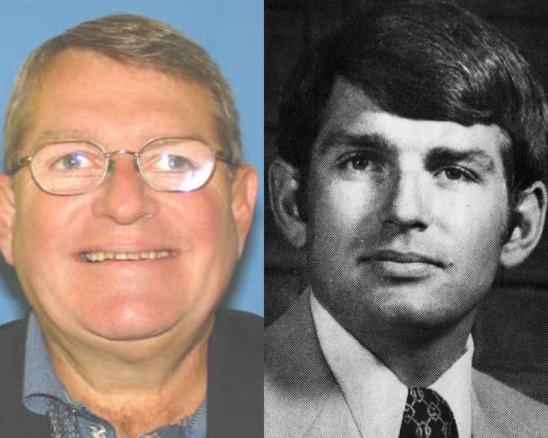 Michael McClain, one of Mike Madigan's closest confidants, in an undated Secretary of State photo, left, and in 1977, right.