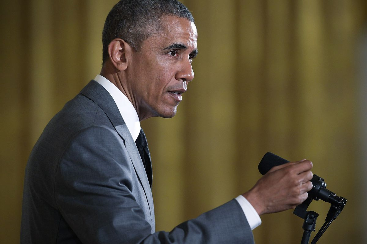 President Barack Obama speaks during an East Room event at the White House June 1, 2015, in Washington, DC.