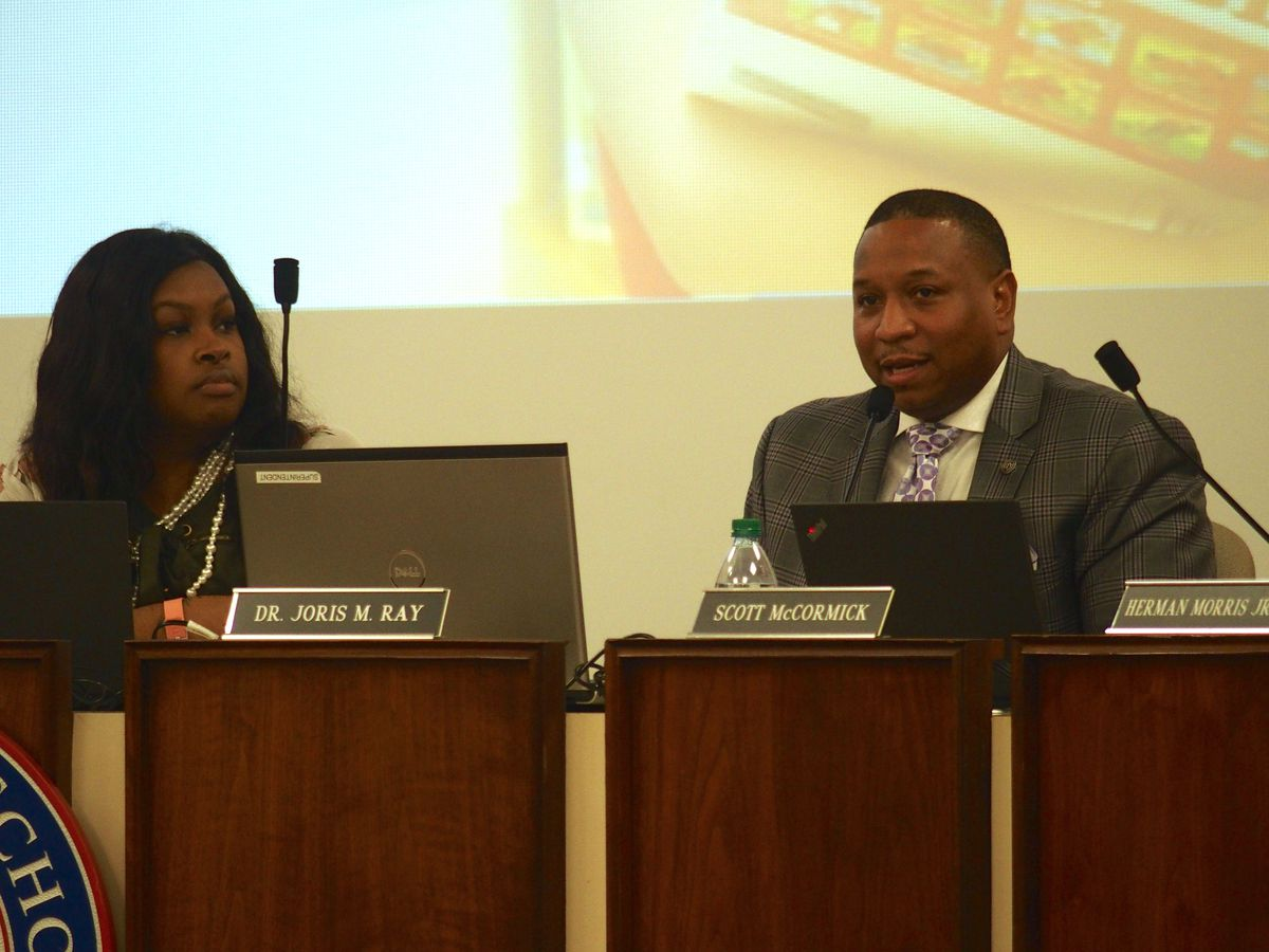 Interim superintendent Joris Ray responds to the flood of support at Wednesday's school board meeting.