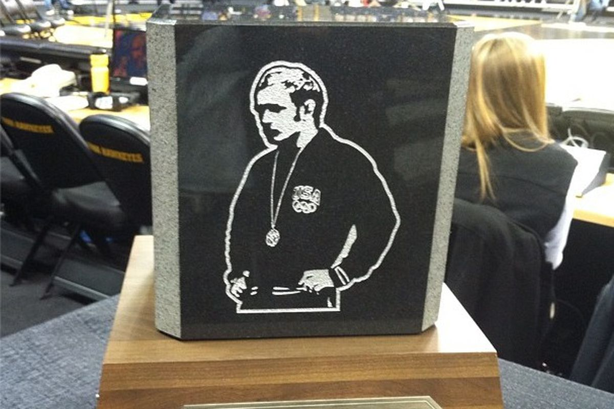 This was the trophy that the winner of the dual got to take home.