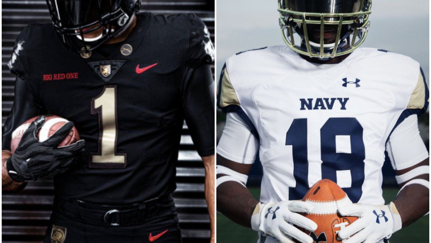 60363b252c1 Army-Navy uniforms 2018  The stories behind the slick alternate jerseys -  SBNation.com