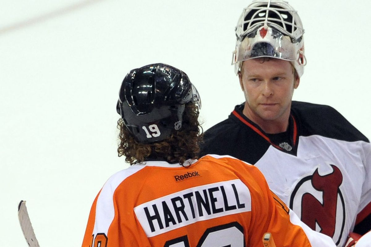 Brodeur and Hartnell were on the same side of the losing effort last night in Operation Hat Trick.
