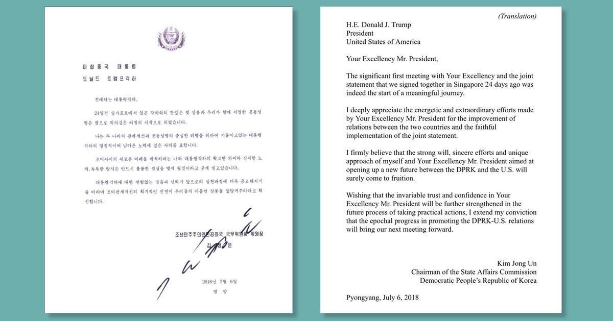 Kim Jong Un Sabotaged Trump S North Korea Talks But Wrote