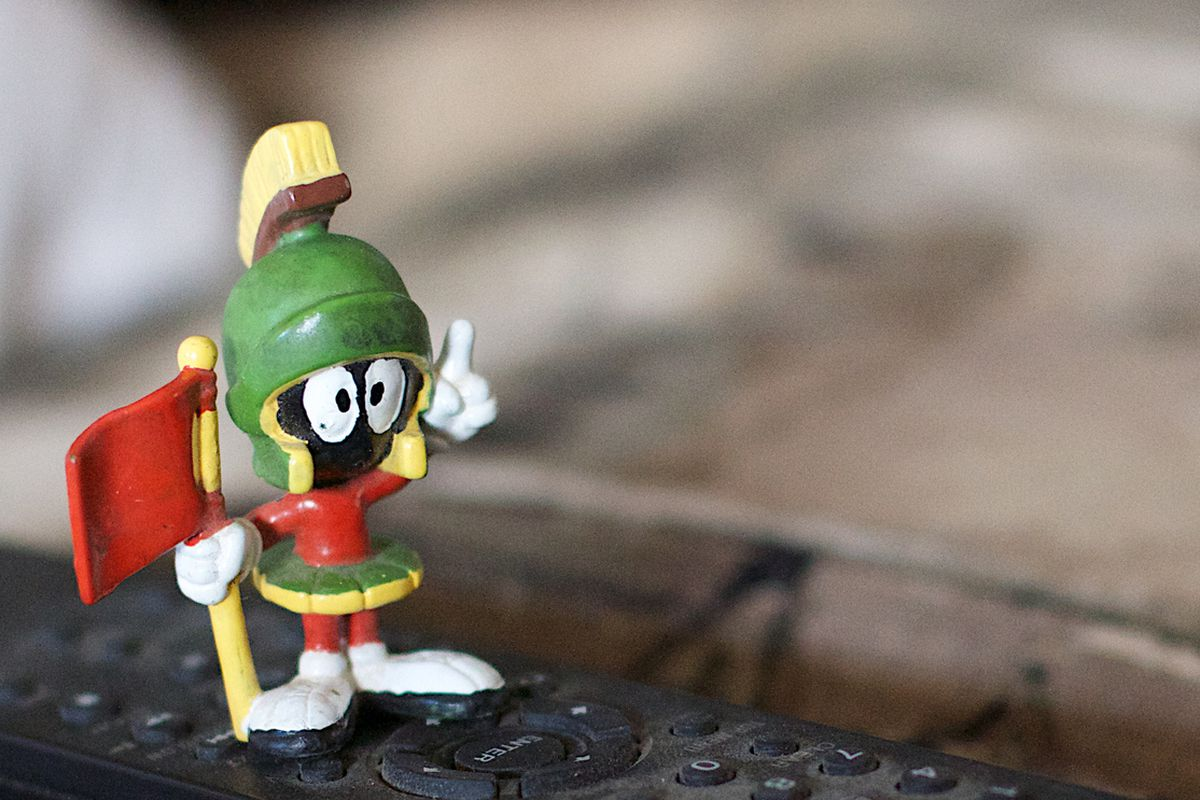Is Marvin the Martian suffering the ill effects of too much space radiation?