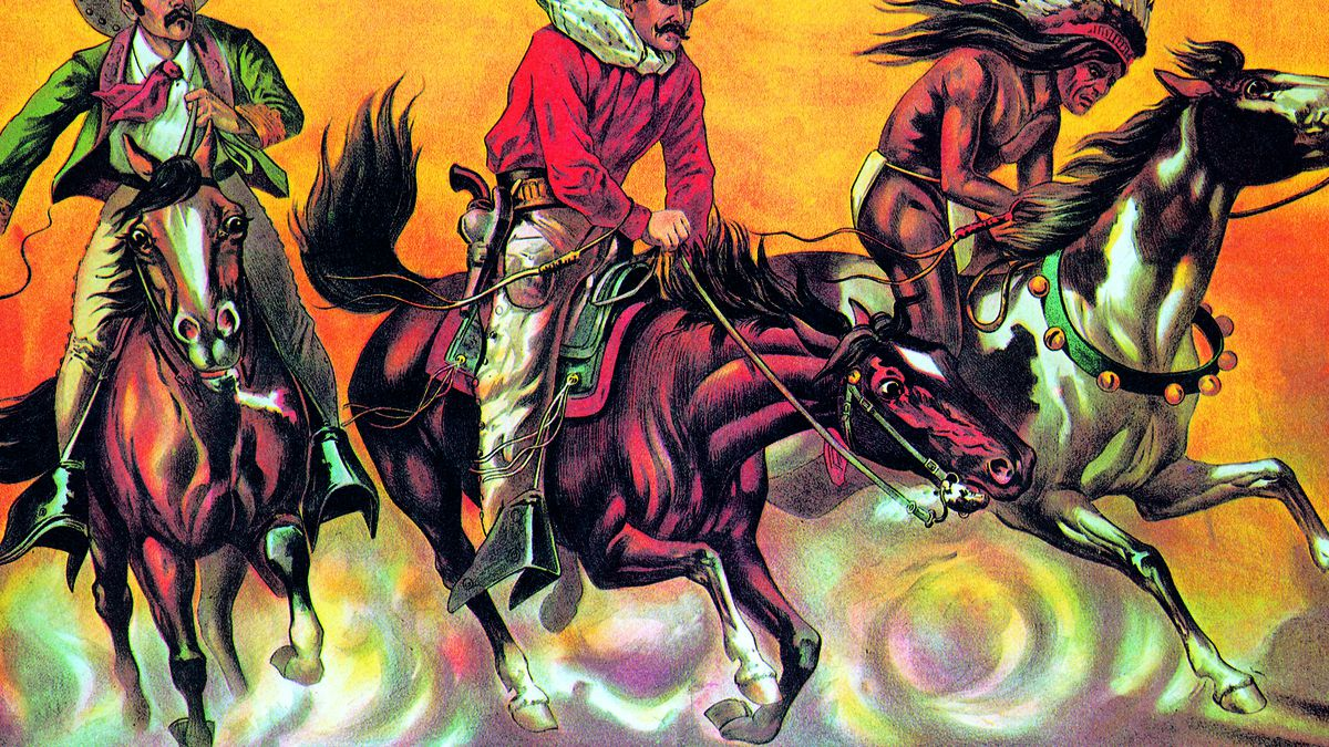 A poster for Buffalo Bill's Wild West Show.