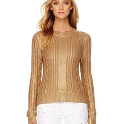 """Metallic Cable-Knit Sweater,<a href=""""http://www.michaelkors.com/p/MICHAEL-Michael-Kors-MICHAEL-Michael-Kors-Metallic-Cable-Knit-Sweater-metallic/prod22700001___/?eItemId=prod22700001&cmCat=search&searchType=MAIN&icid=&rte=%252Fsearch.jhtml%253FN%253D0%252"""