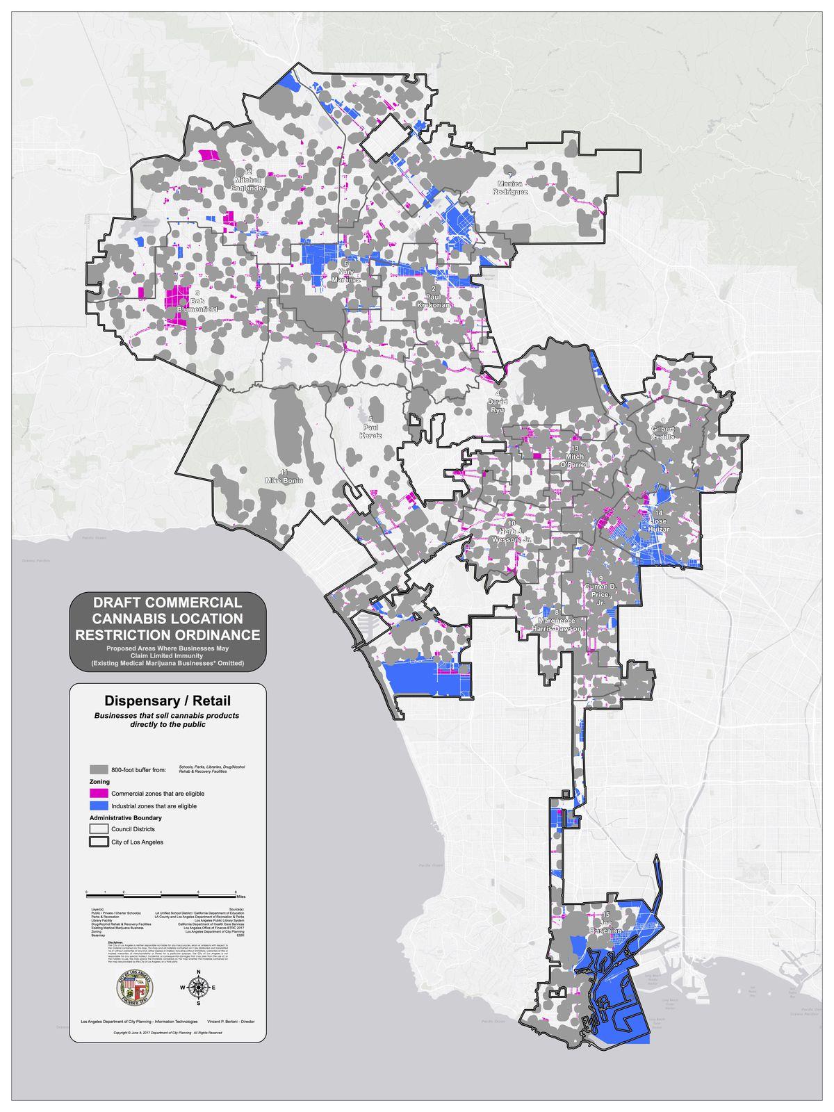 New map shows where LA would allow marijuana dispensaries