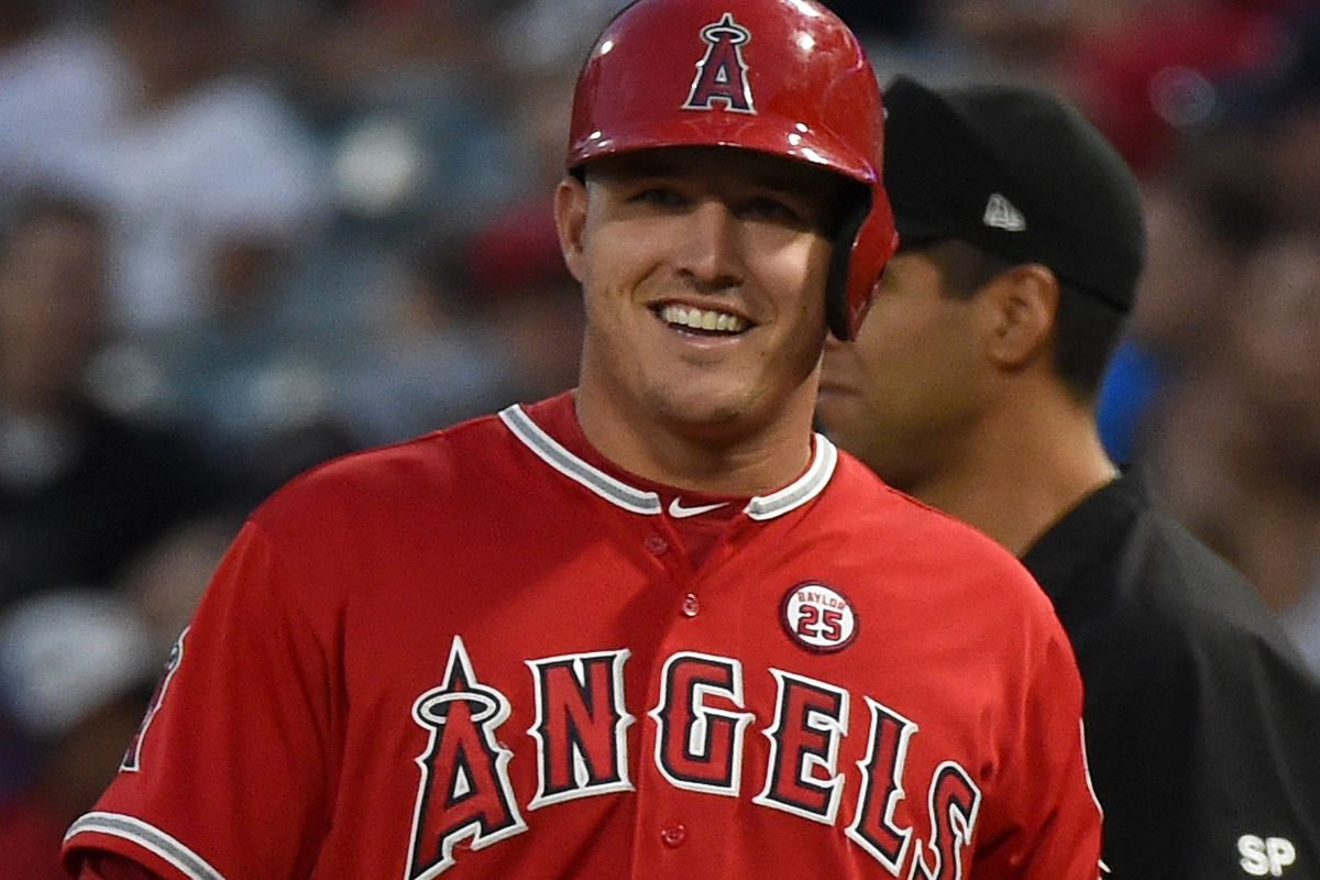mike trout The halfway point of the season arrives this week, and on the day of game 81, we can see where mike trout is, double it and dream.