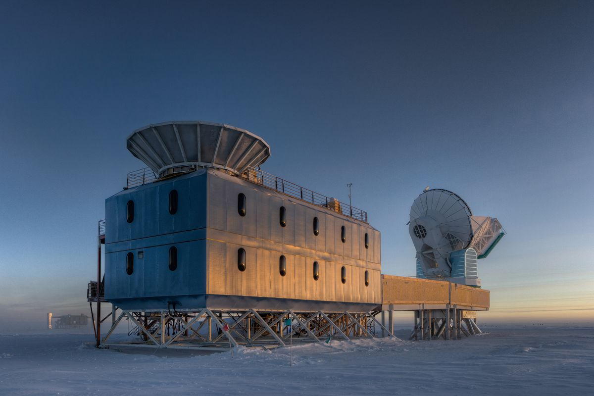 The BICEP2 telescope, in Antarctica, used to make the disputed discovery.