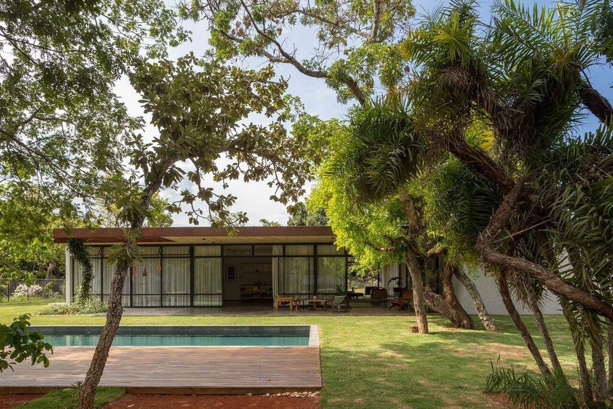 modern house in Brazil