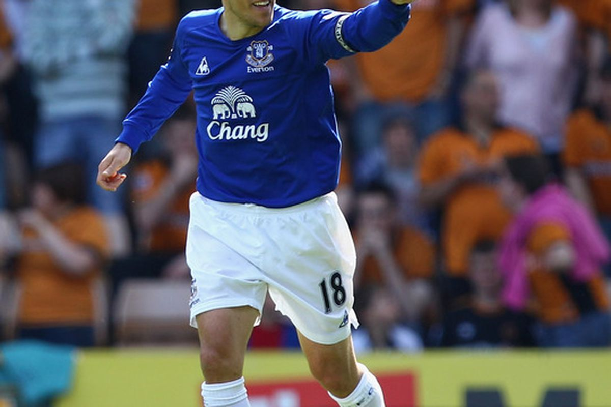 Nev's the man: Everton knew it was going to be their day when Neville scored!
