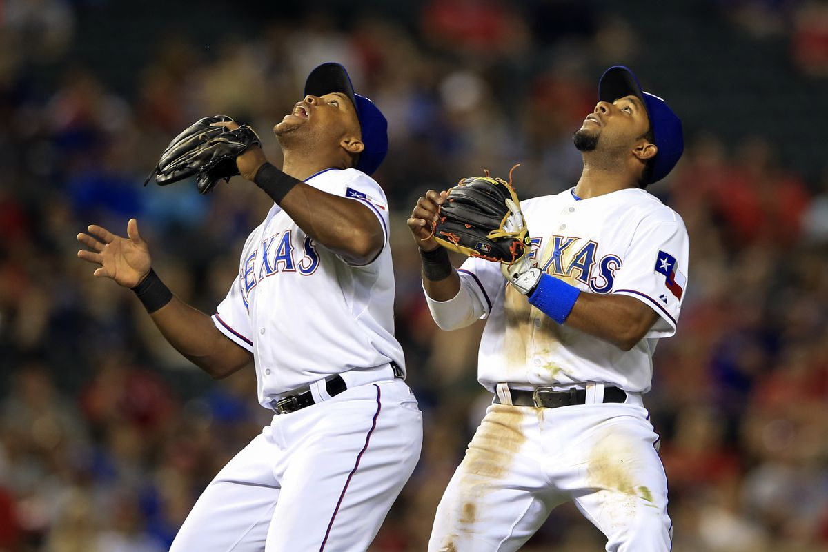 Andrus has a bit of fun with Beltre