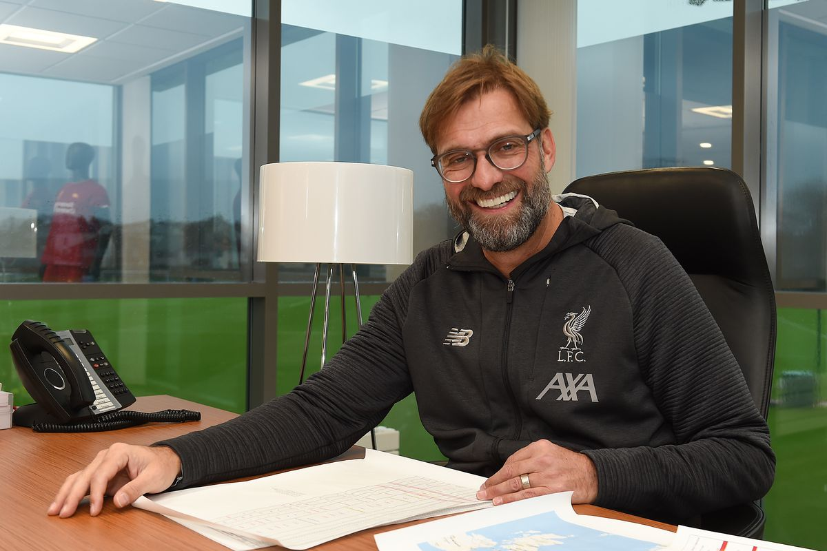 Jurgen Klopp Signs A Contract Extension at Liverpool (THE SUN OUT, THE SUN ON SUNDAY OUT)