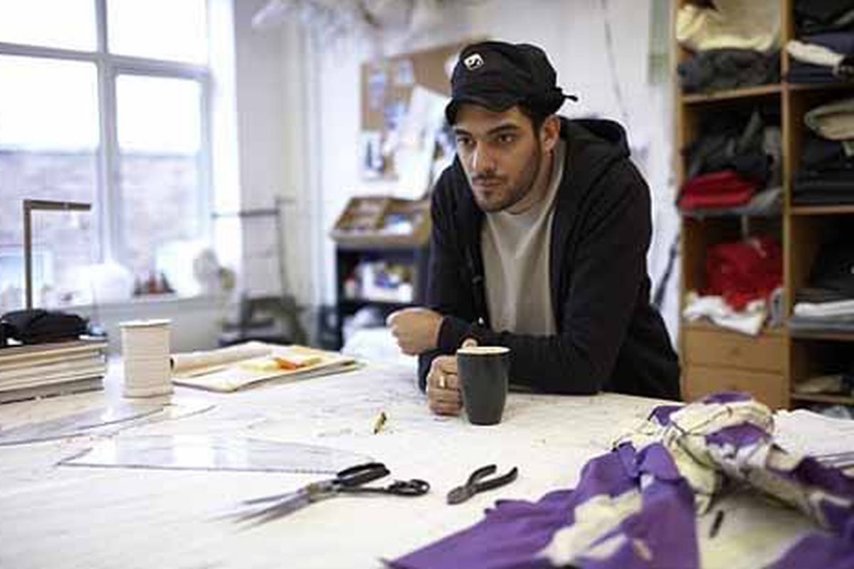 British designer Aitor Throup, jersey mastermind, considers the Umbro