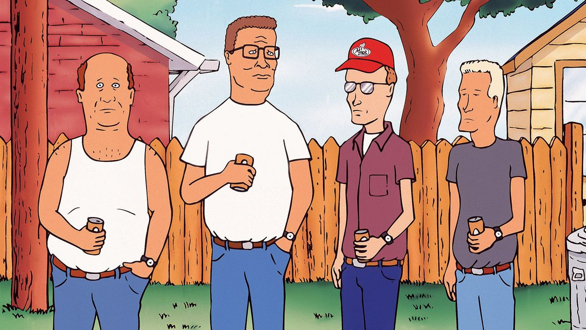 king of the hill cast standing with beers