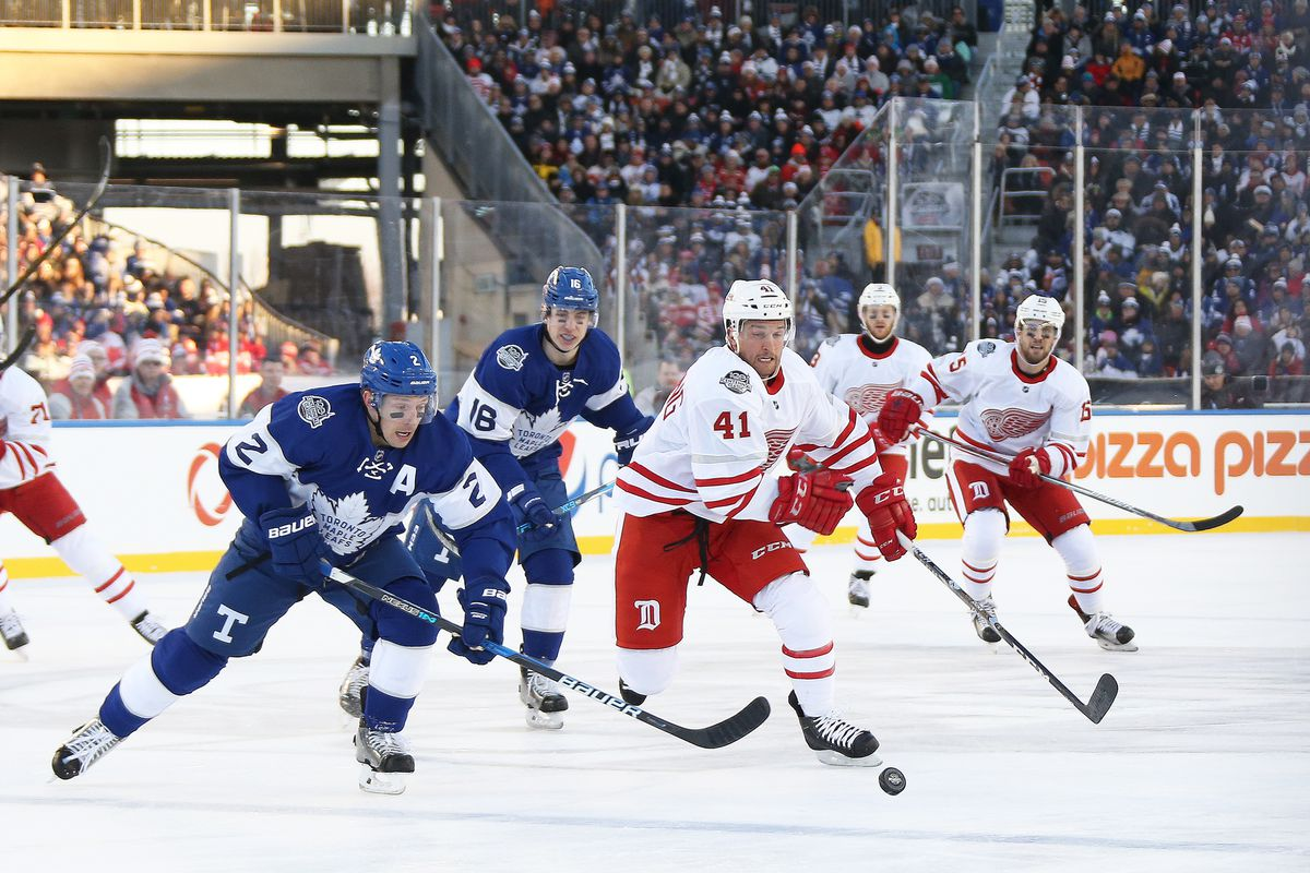 buy online 3fd38 6e2cb Leafs vs. Red Wings Centennial Classic Recap: Everything ...