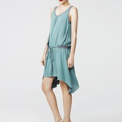 Dropwaist dress, sea green/grey, $398
