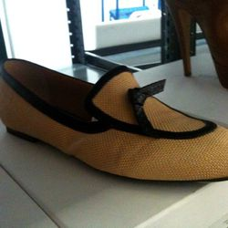 On-trend raffia smoking loafers from Viktor & Rolf, $226