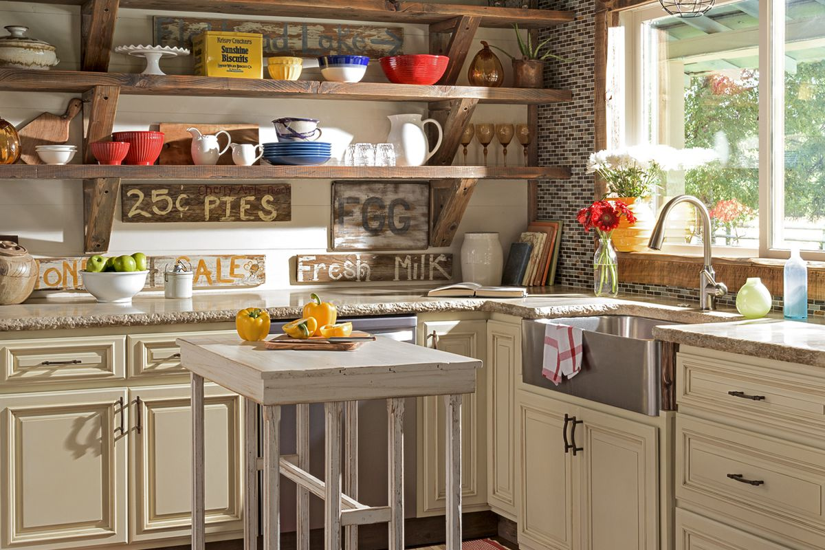 Create A Rustic Farmhouse Kitchen This Old House