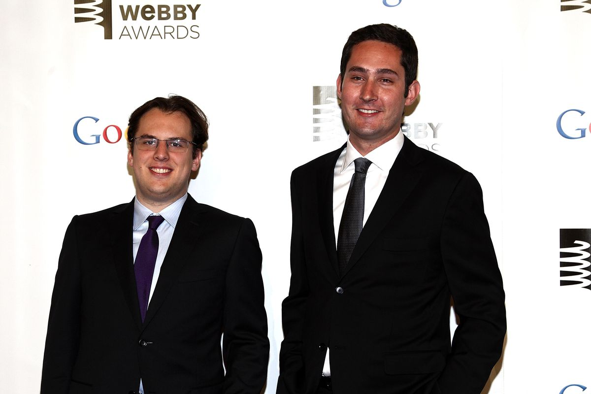 Instagram's co-founders, Kevin Systrom and Mike Krieger, are