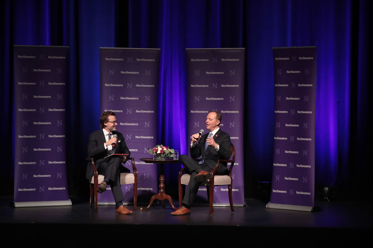 Rep. Adam Schiff (D-CA) Delivers Lecture On The Threat To Liberal Democracy At Northwestern University