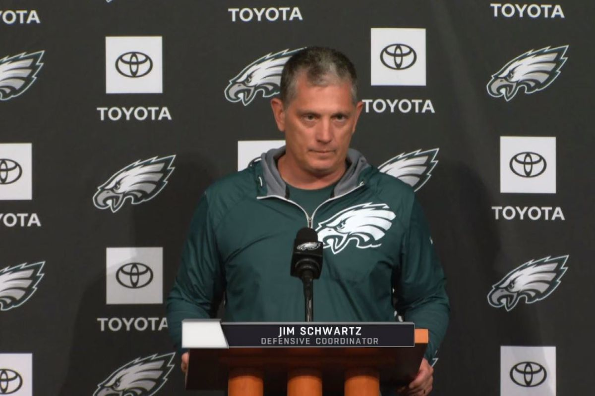 sports shoes e7a01 53b99 Jim Schwartz talks new Eagles additions and rookie Shareef ...