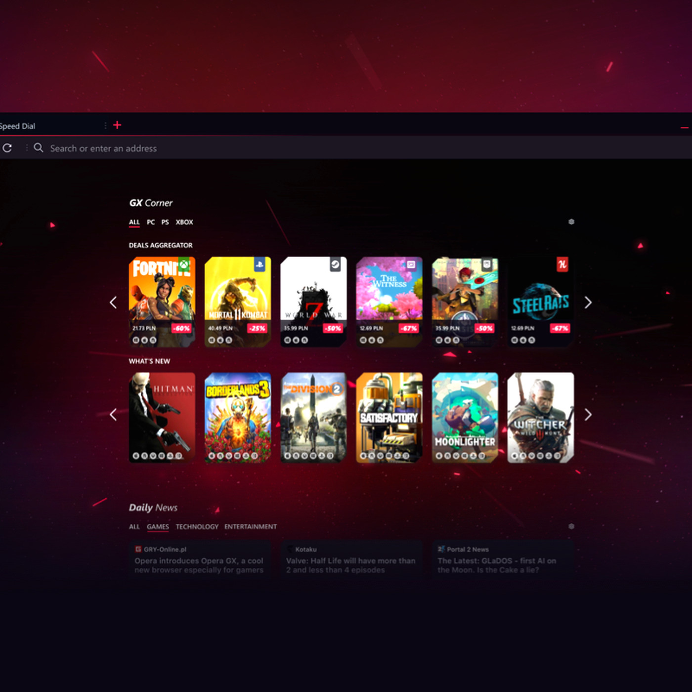 "Opera made a ""gaming browser"" that lets you control CPU"