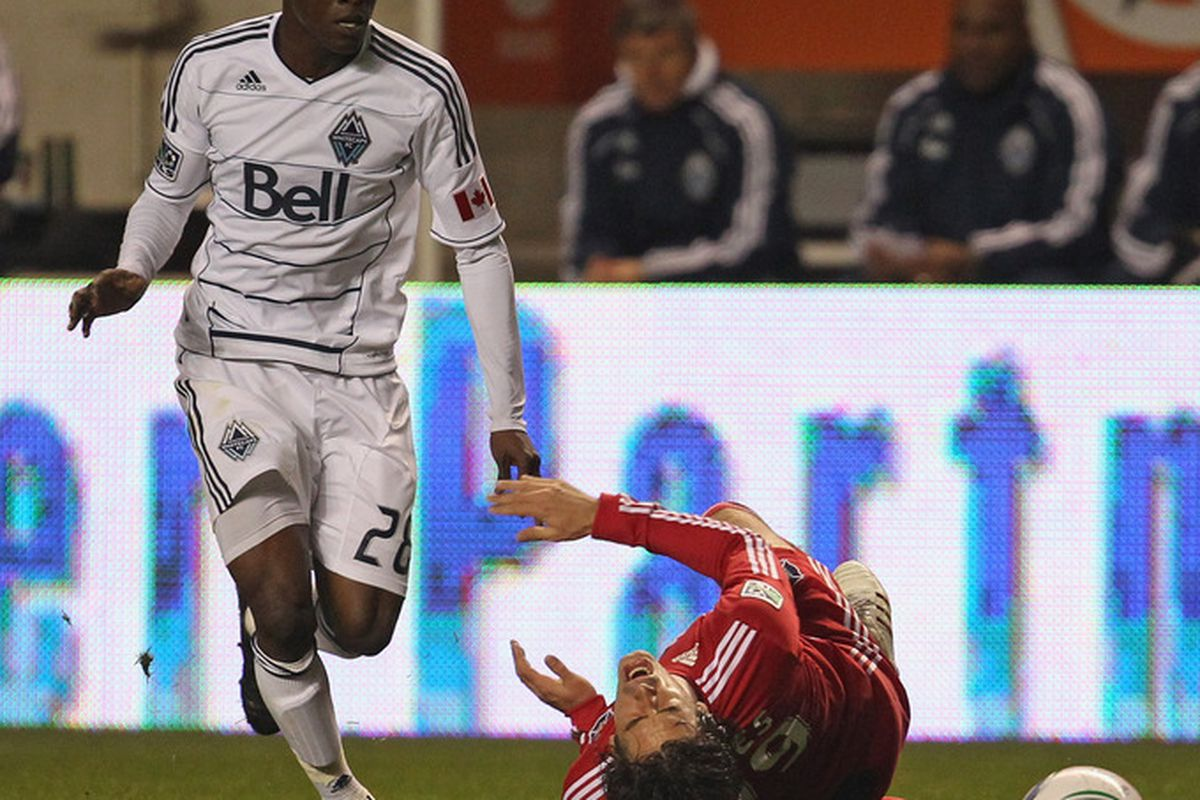 Gershon Koffie is so badass he can knock guys over by looking at them.
