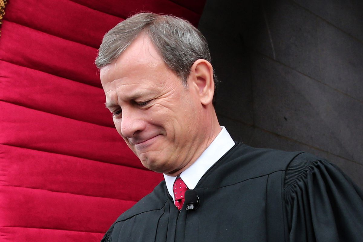 Ouch, Roberts got served so hard his mama must have thought he was a subpoena.