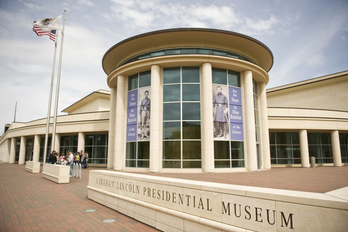Abraham Lincoln Presidential Library and Museum in Springfield.