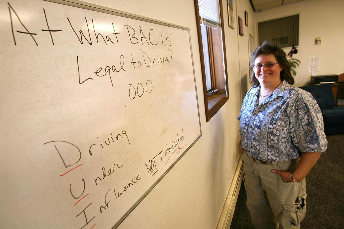 In this  Sept. 12, 2012 photo, Kelly Andaloro poses in her office for Fresh Start Alcohol and Drug Outpatient Services and ADIS (Alcohol and Drug Information School) classes in Fairbanks, Alaska,