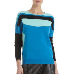 """<b>Ohne Titel</b> Colorblock Sweater, <a href=""""http://www.barneys.com/Ohne-Titel-Colorblock-Sweater/502588103,default,pd.html?cgid=womens-sweaters&index=18#"""">$360</a> at Barney's"""