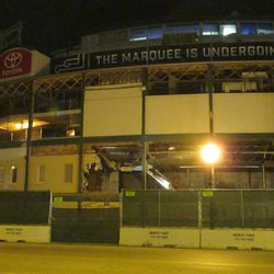 6:01 p.m. The Clark Street side of the front of the ballpark -