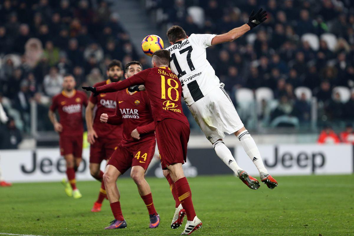 Mario Mandzukic of Juventus FC scores a goal during the...