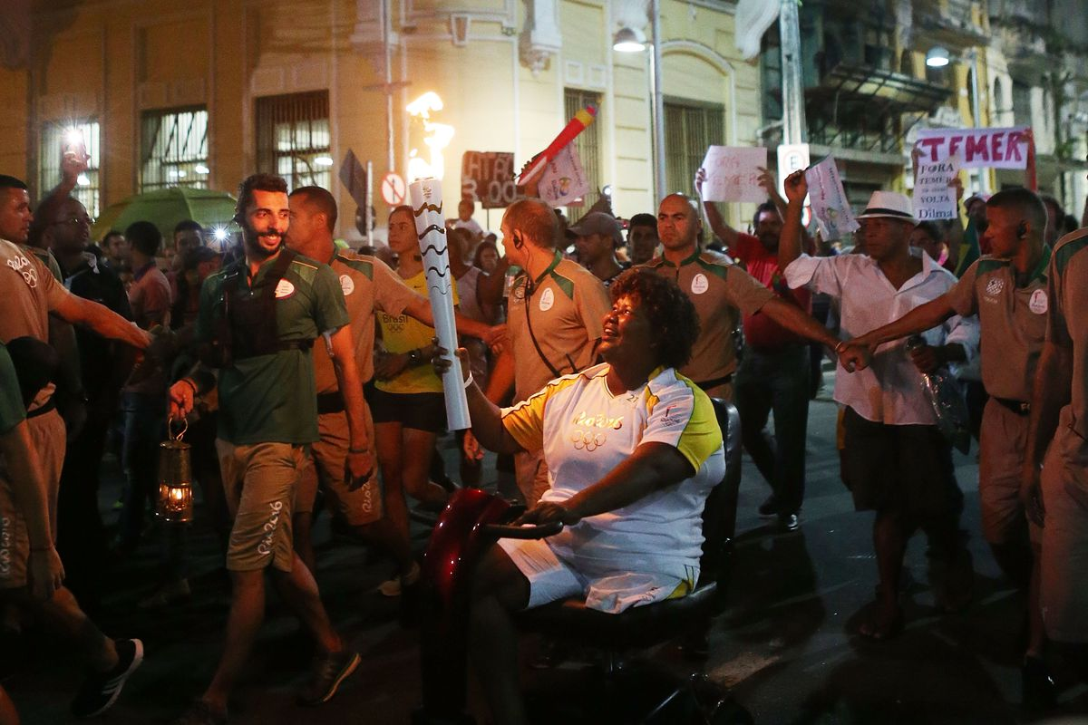 Olympic Torch Relay Winds Through Recife, Brazil