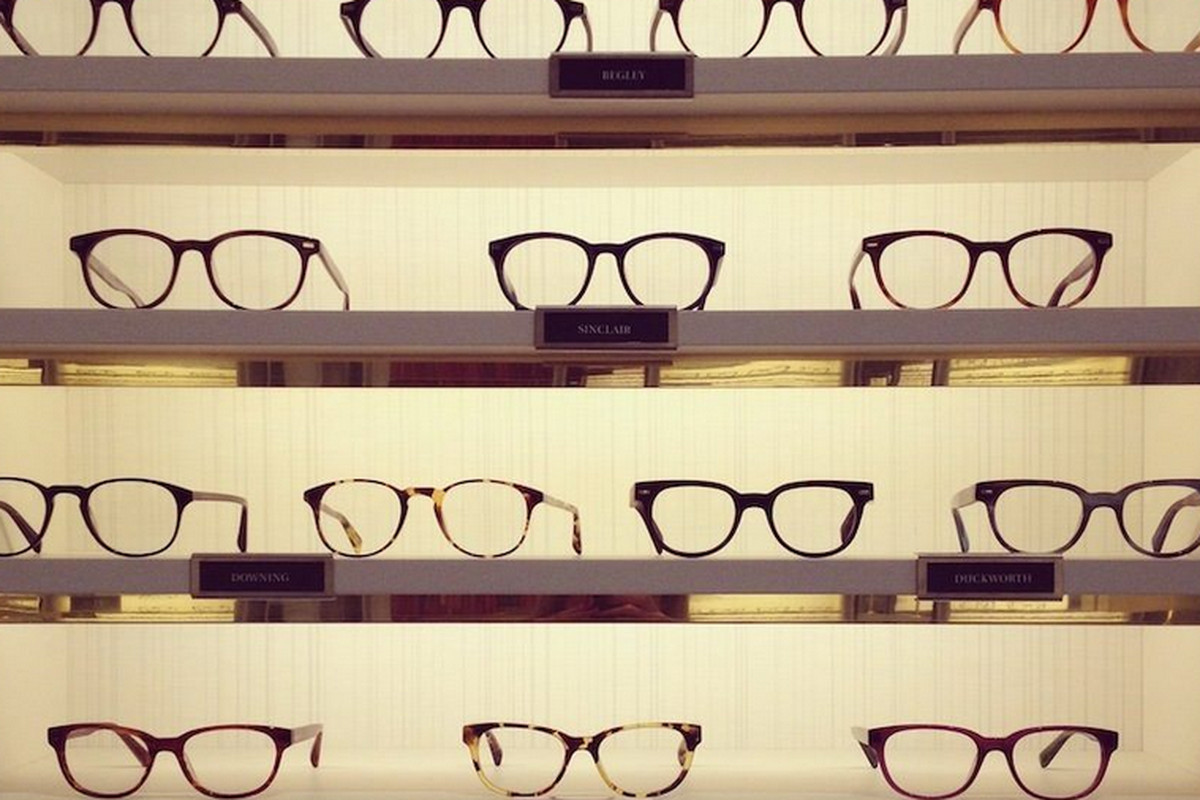 """A snap from Warby Parker's <a href=""""http://ny.racked.com/archives/2013/04/11/tour_warby_parkers_amazing_new_greene_street_flagship.php"""">Soho store</a>."""