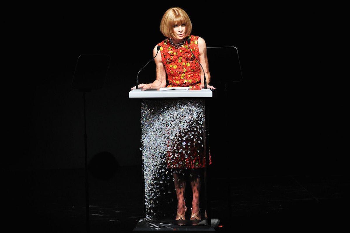Public speaking abilities? Check. Anna Wintour via Getty