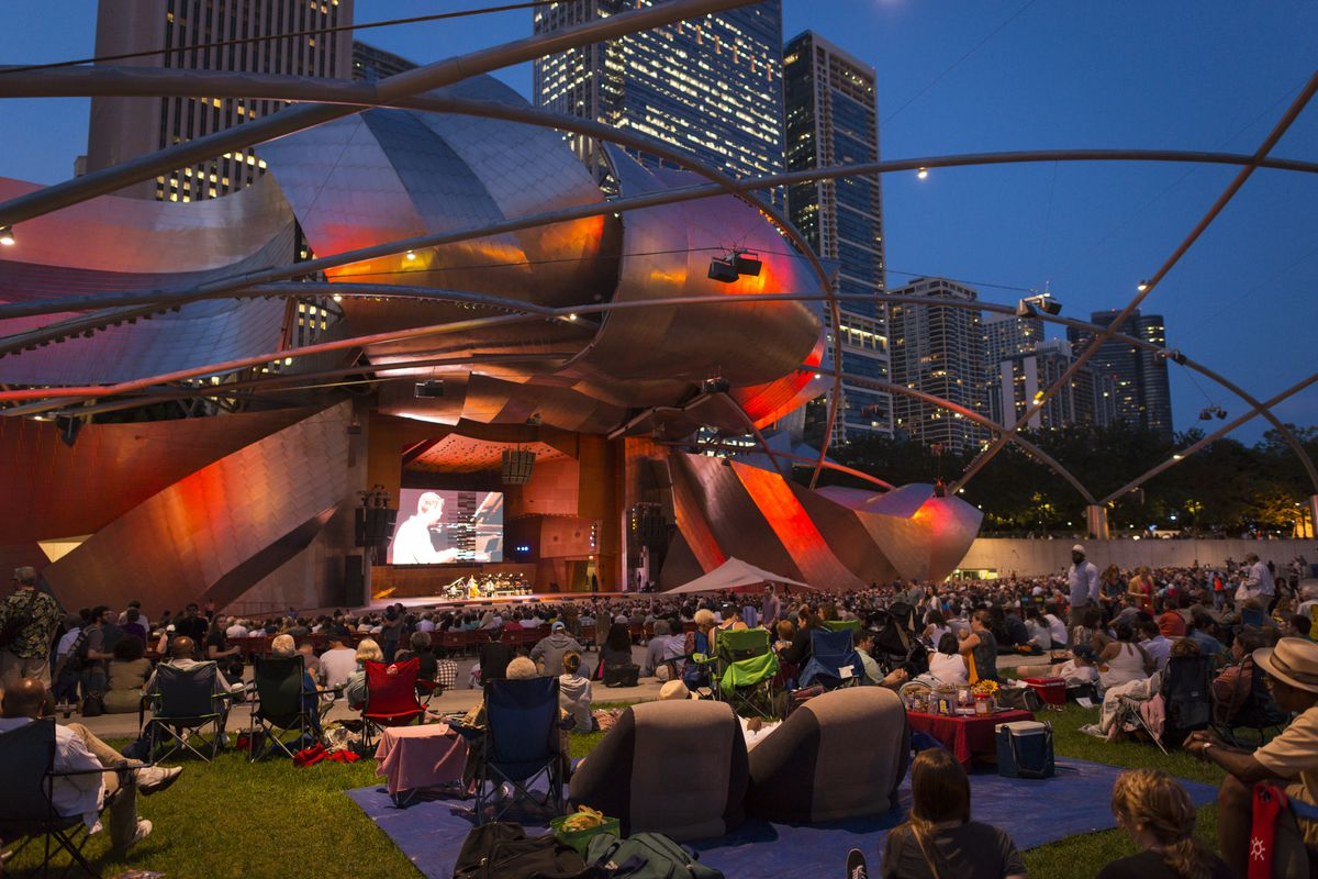 Hundreds of local residents, tourists and jazz enthusiasts gather at Millennium Park Labor Day weekend each year to enjoy the largest free jazz festival in the world