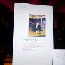 The Politico package up for silent auction