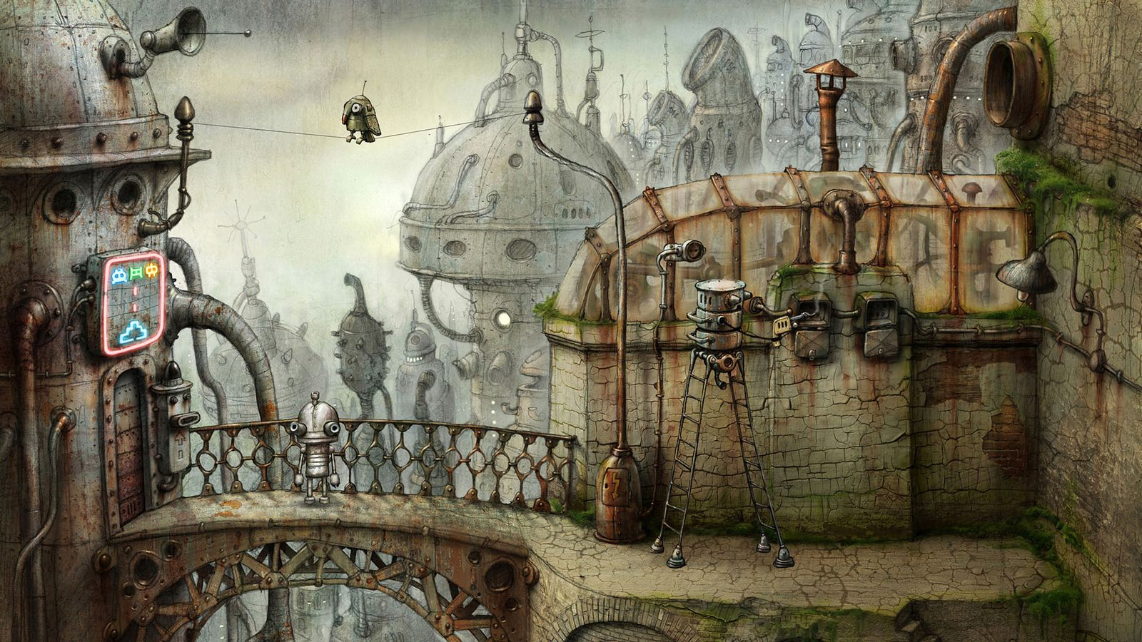 Gorgeous robot adventure Machinarium modernized with new engine and more