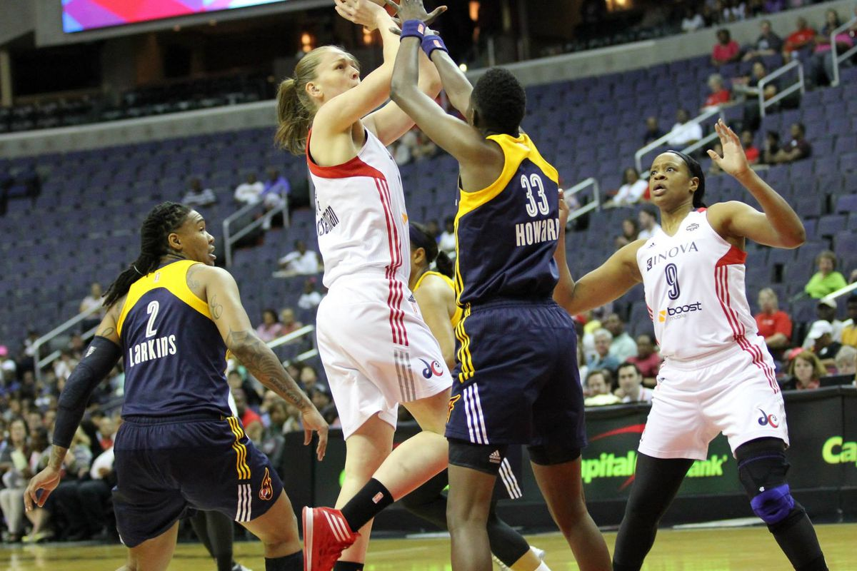 Emma Meesseman was the only player in the plus for +/-. Kia Vaughn went 6-of-8.