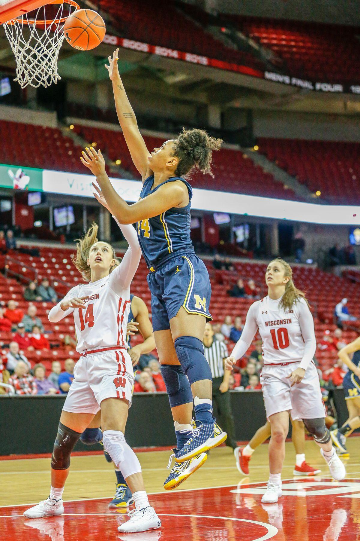 COLLEGE BASKETBALL: JAN 16 Women's Michigan at Wisconsin