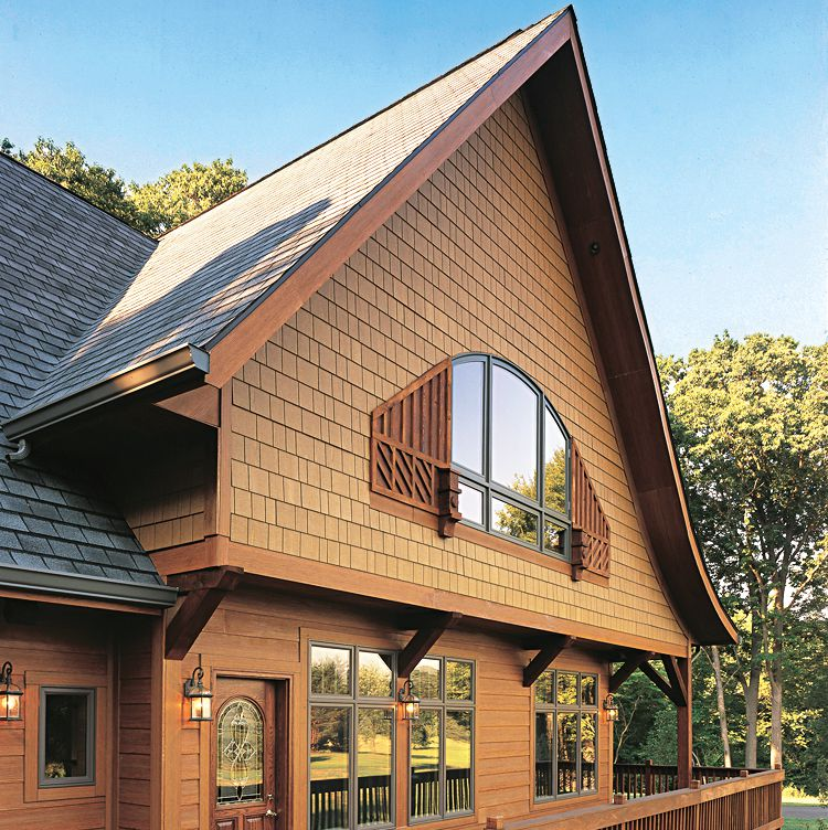 Wood Siding With Brown Finish