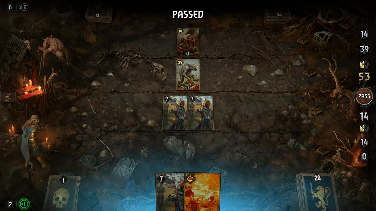 Thronebreaker: The Witcher Tales - passing in a battle