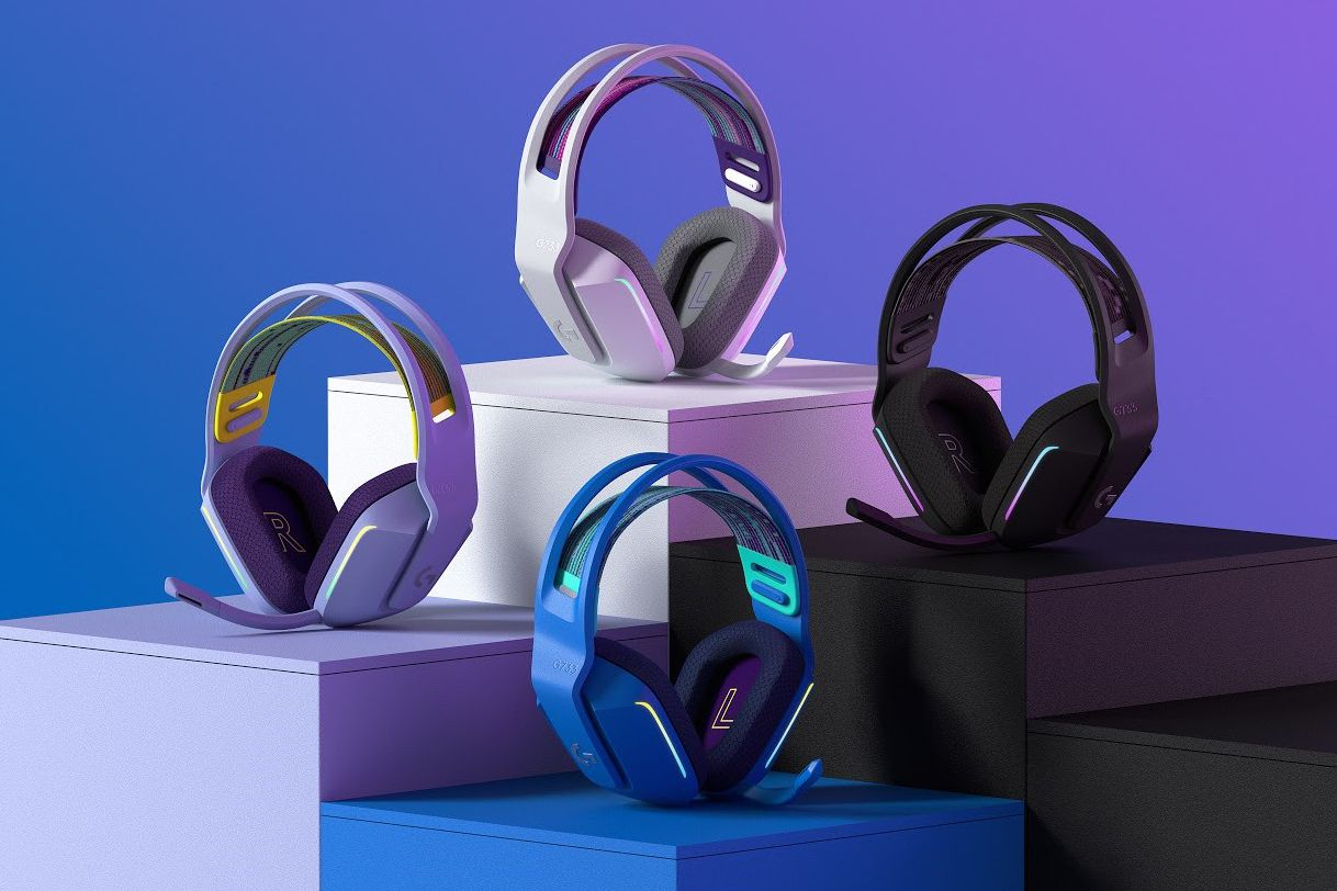 Logitech's colorful G733 wireless headset can make your desk less drab - The Verge